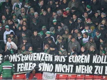 Die mitgereisten Fans machten nach der Niederlage ihrem Ärger Luft.