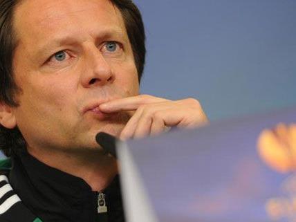 Rapid Trainer Schöttel geht durchaus zuversichtlich in die Europa League Partie gegen Trondheim