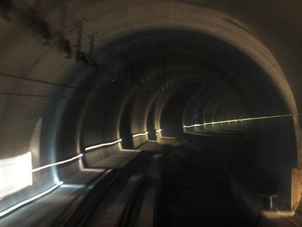Insbesondere im Tunnel spielt die Sicherheit auf der neuen Hochleistungsstrecke der ÖBB eine Rolle.