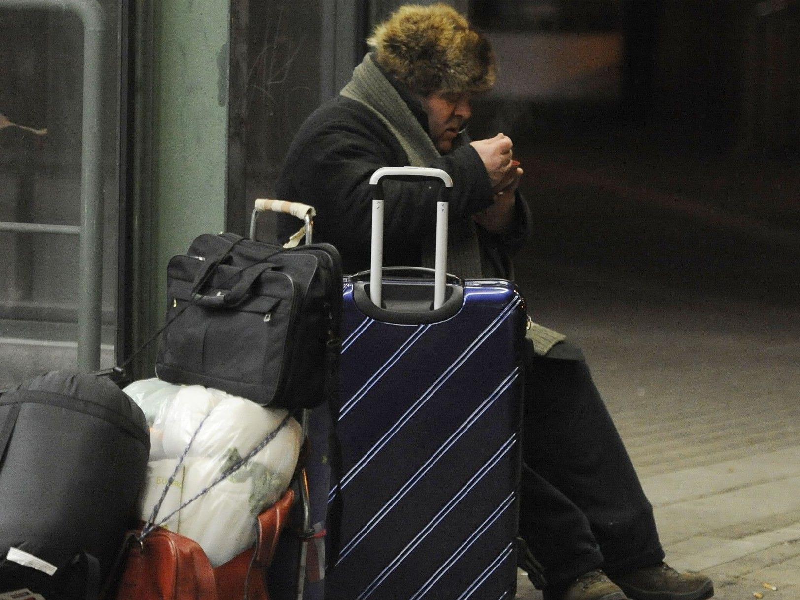 Kältetelefon der Caritas Wien hilft obdachlosen Menschen