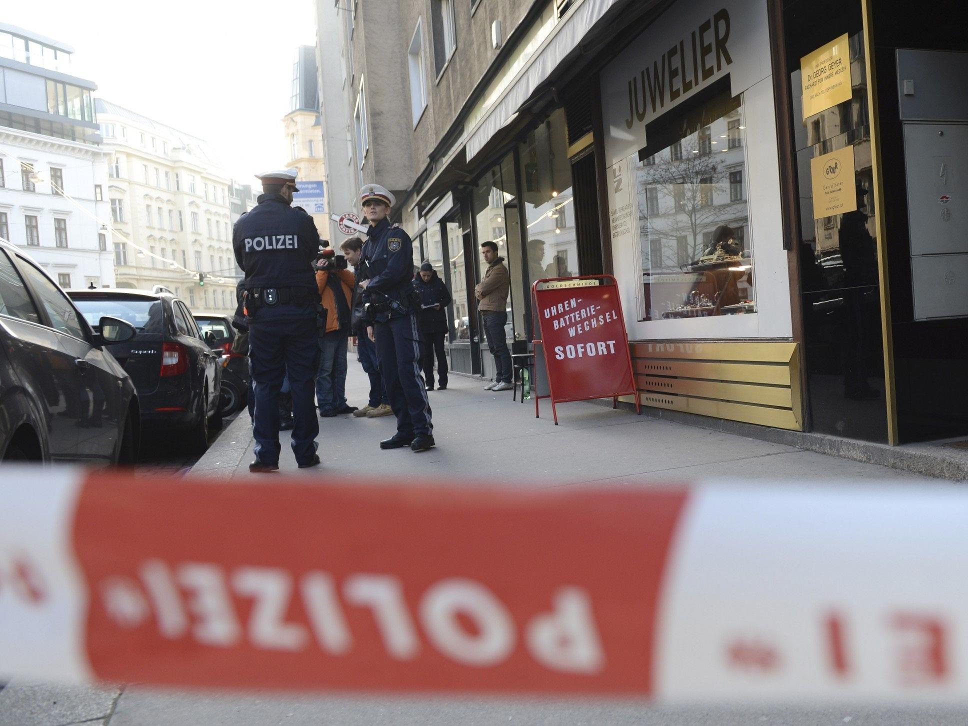 Überfall auf Wiener Juwelier in Wieden gescheitert