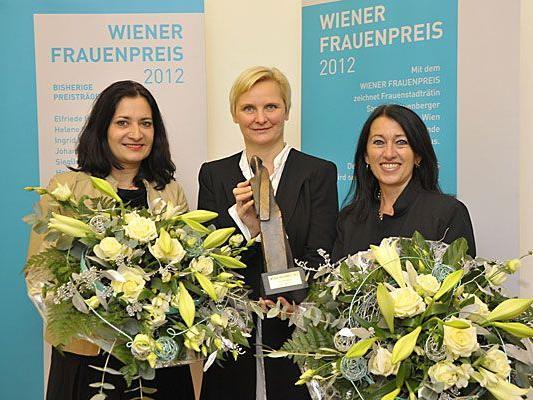 Frauenpreis 2012: Die Preisträgerinnen bei der Verleihung in Wien