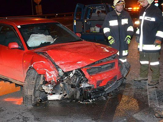 In Gloggnitz geschah ein schwerer Verkehrsunfall
