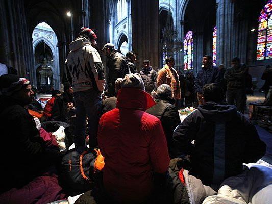 Die Asylwerber campten in der Votivkirche