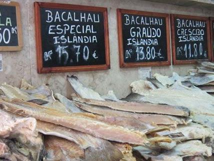 Bacalhau, die portugiesische Nationalspeise, ist auch in Wiener Restaurants erhältlich.