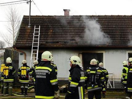 Elf Feuerwehren waren am Montag in Matzlesschlag im Einsatz.