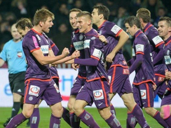 Ob sich Austria Wien heute auch über einen Sieg freuen kann entscheidet sich im Spiel gegen Salzburg