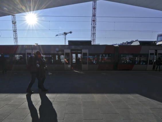 Ein sonniger (Teil)Beginn für den neuen Wiener Hauptbahnhof.
