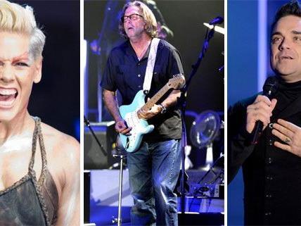 Pink, Eric Clapton, Robbie Williams - und viele weitere Konzerte kommen 2013 auf uns zu.