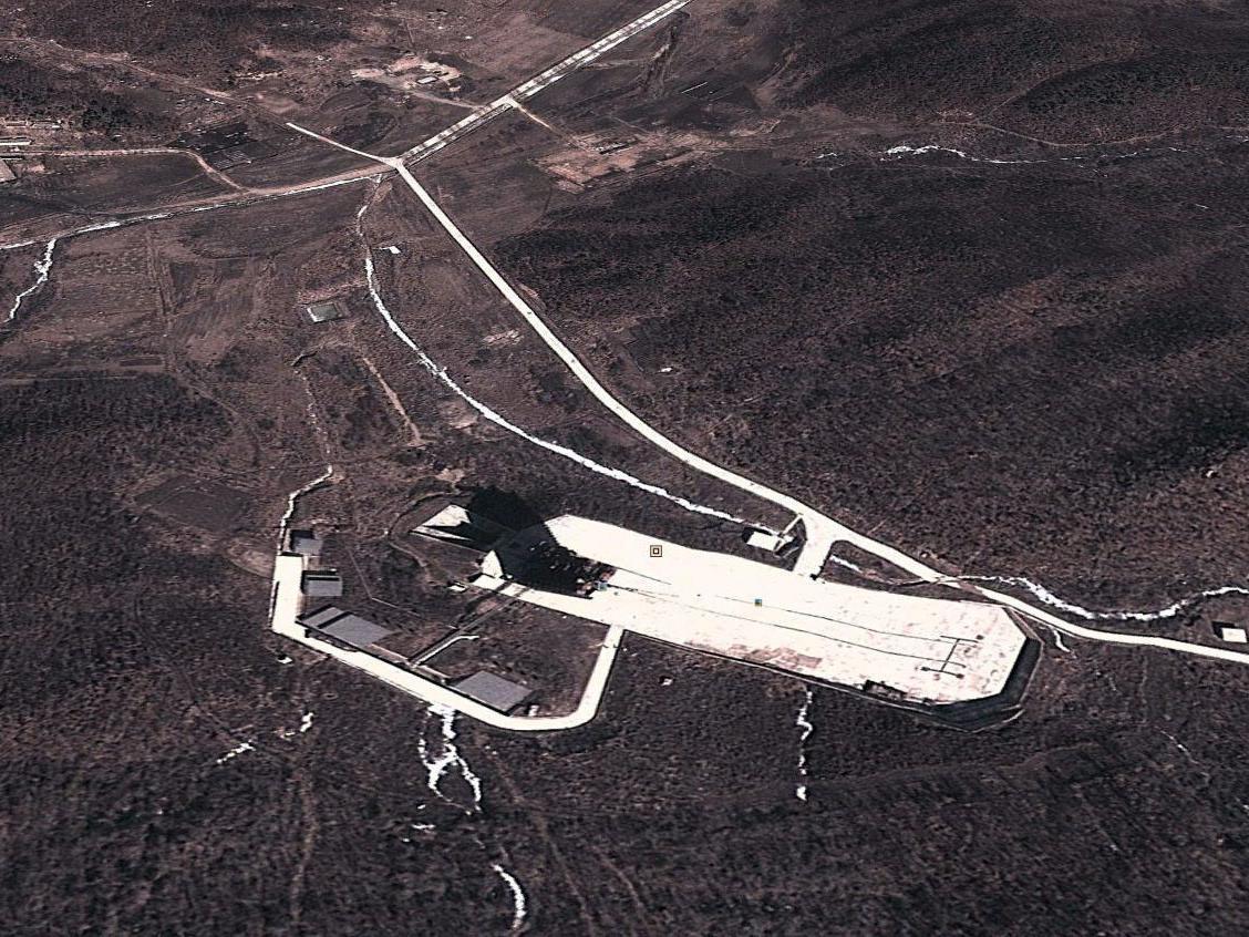 Die nordkoreanische Raketenrampe in Dongchang-ri.