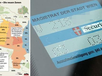Ab dem 1. Jänner gelten neue Parkpickerl-Zonen in den Bezirken.