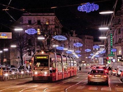 Am Heiligabend fahren die Wiener Linien in anderen Intervallen durch die Stadt.