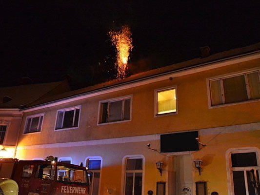In Pottenstein im Bezirk Baden ereignete sich ein Kaminbrand