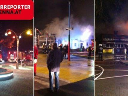 Am Donnerstag brannte es im Wiener Prater.