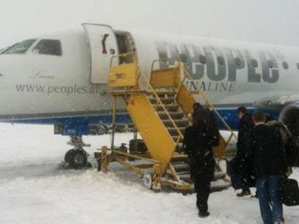 Flüge in Schwechat wurden aufgrund des Wetters gestrichen.