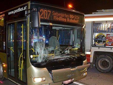 Die Insassen des Busses wurden bei dem Unfall an Donnerstag nicht verletzt.