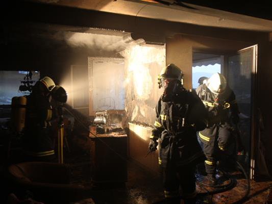 Bei dem Wohnungsbrand wurde niemand verletzt.