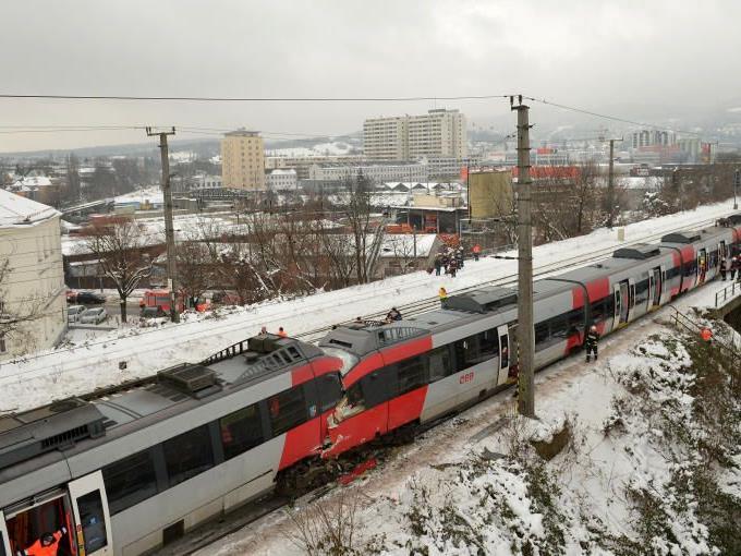 Das schwere Zugunglück auf der S45 ereignete sich am Montag in der Früh.