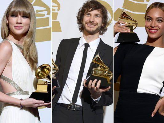 Taylor Swift, Gotye und Beyonce wurden bei den Grammys 2013 ausgezeichnet