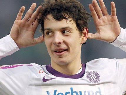 Stürmer Philipp Hosiner schoss die Austria im Derby näher zum Meistertitel