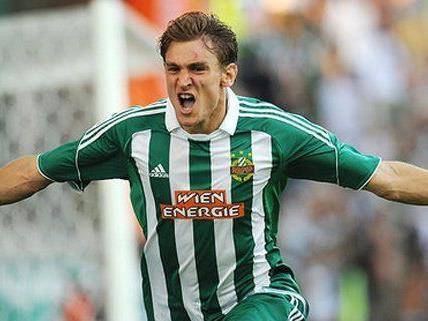 Nikica Jelavic war Mitte August 2010 von Rapid nach Glasgow gewechselt.