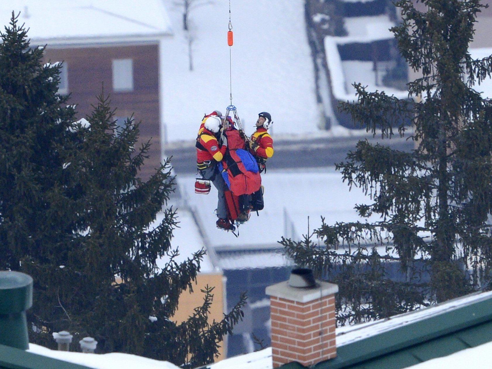 Topfavoritin Lindsey Vonn im Super-G der Damen in Schladming schwer gestürzt.