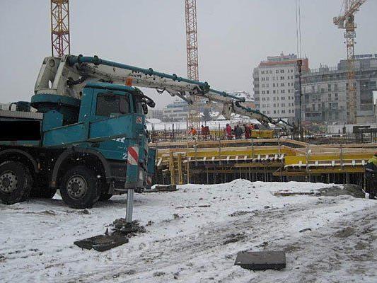 Auf einer Baustelle in Donaustadt wurde ein Arbeiter tödlich verletzt