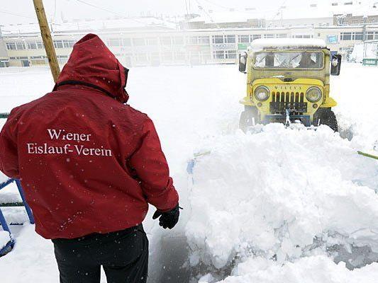 Der Wiener Eislaufverein versinkt im Schnee