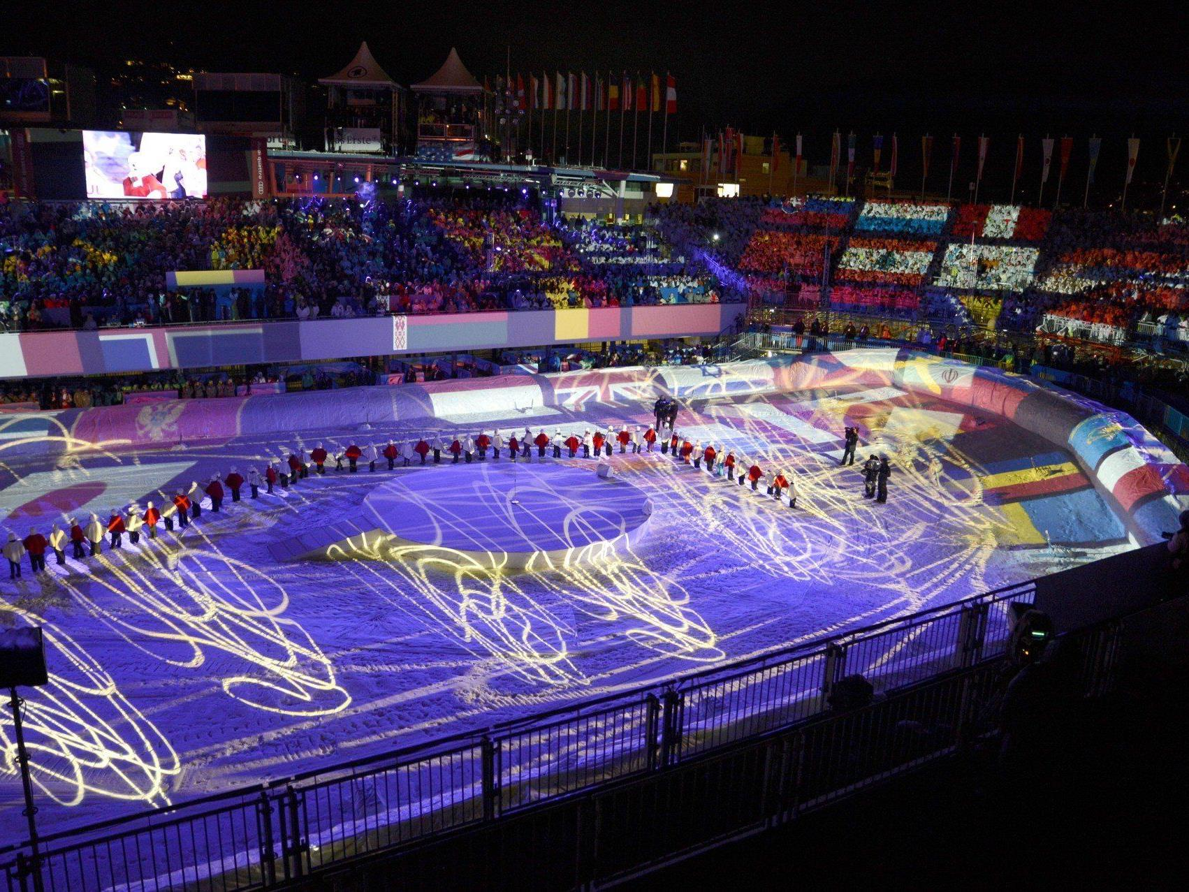 Eröffnung der alpinen Ski-WM 2013 in Schladming.
