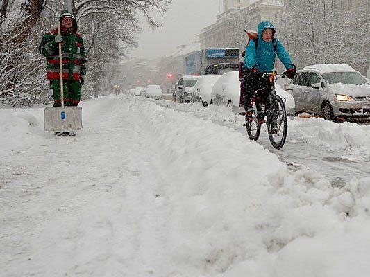 Wien wird in den nächsten Tagen wieder ziemlich im Schnee versinken