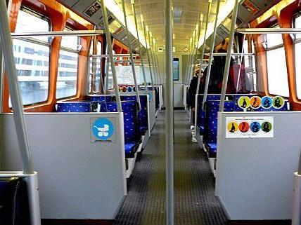Weniger Beschmierungen gibt es zum Beispiel in den U-Bahnen