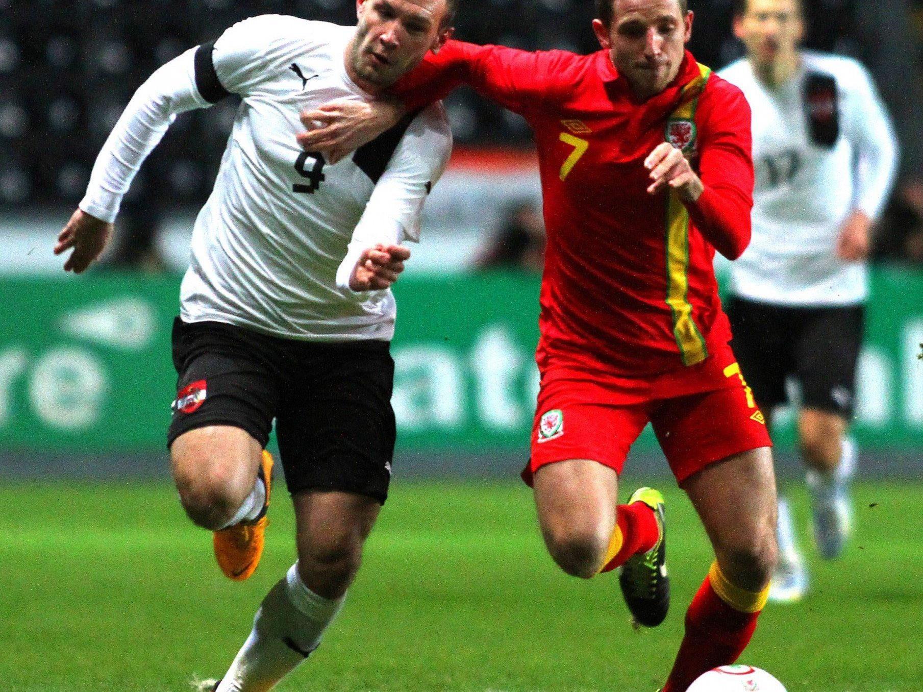 Niederlage für Österreich gegen Wales.