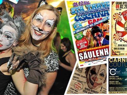 Auf den vielen Clubbings rund um Fasching darf man sich auf schrille Verkleidungen freuen