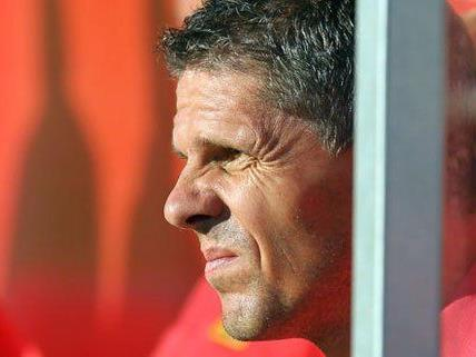 Admira Coach Kühbauer blickt einer schwierigen Zukunft entgegen. Macho und Segovia sollen helfen