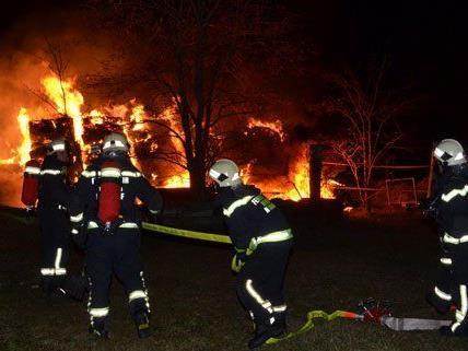 Die Feuerwehr kann Brandstiftung in Wiener Neudorf nicht ausschließen.