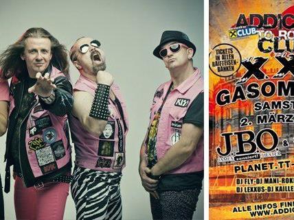 Die Fun-Metal Band J.B.O. wird beim Addicted to Rock XXL für ausgelassene Stimmung sorgen