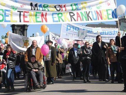 Marsch der seltenen Erkrankungen in Wien.