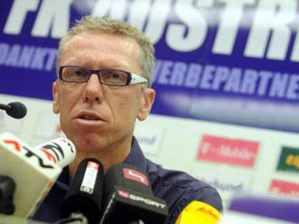 Austria Coach Peter Stöger nimmt die Favoritenrolle der Austria gerne an