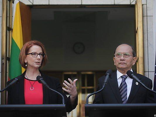 Julia Gillard und Thein Sein in Canberra