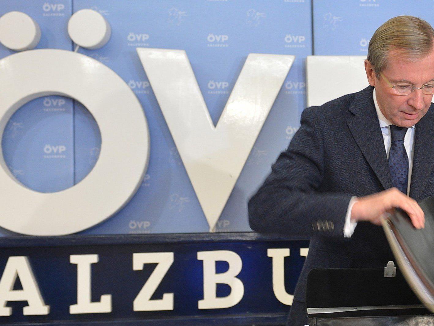 Die Salzburger ÖVP will ihren Wahlkampf zur Landtagswahl bewusst altmodisch gestalten.