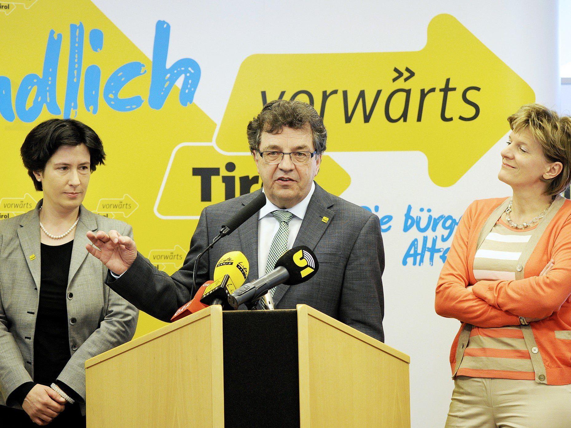 """Die Liste """"vorwärts Tirol"""" schloss eine Koalition mit der VP unter Günther Platter aus."""