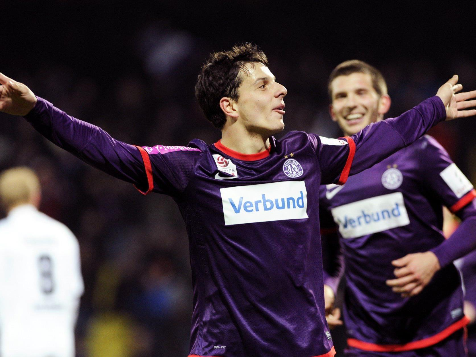 Fußball: Austria - Wacker Innsbruck 3 - Hosiner-Doppelpack bei 4:0