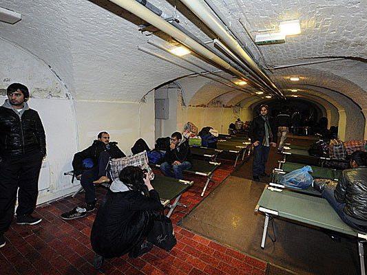 Im Servitenkloster kam es unter Flüchtlingen zur Prügelei.