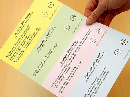 Volksbefragung: 37 Prozent füllten ihren Stimmzettel aus