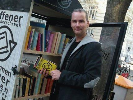 Auch in Wien-Josefstadt gibt es jetzt einen offenen Bücherschrank.