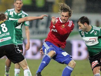 Auch gegen den SV Ried konnte sich Rapid nicht durchsetzen.