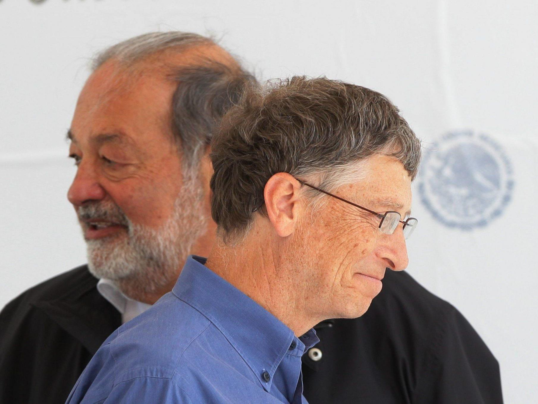 Carlos Slim und Bill Gates unangefochten an der Spitze der Superreichen.