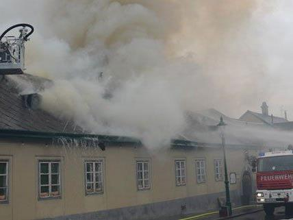 Am Freitag brannte ein Heuriger in Wien-Döbling.