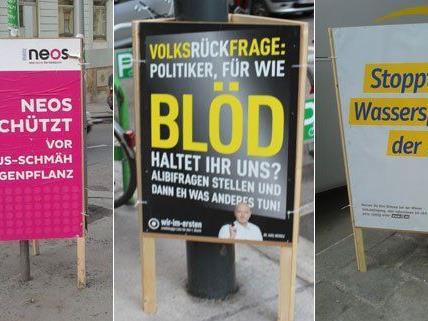 Auch kleine Parteien wollen die Wiener Volksbefragung für sich nutzen.