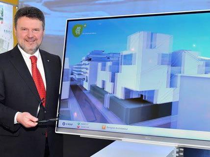 Eine Ausstellung soll zeigen, wie der neue Wiener Stadtteil aussehen wird.
